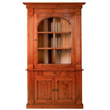 traditional bookcase wooden glass front logis e103
