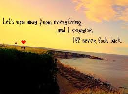 Running Away Quotes Classy Love Never Promise Quote Run Away Image 48 On Favim