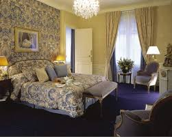 Paris Bedroom Curtains Bedroom Curtain Ideas In Blue And Gold Themed Bedroom With Rod