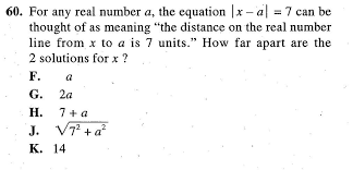 act math what does the two solutions mean