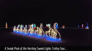 Hershey Sweet Lights Times Our Hershey Trolley Works Ride Through Hershey Sweet Lights In Hershey Pa