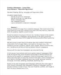 Create Newspaper Article Template Lesson Plan Newspaper Article Template News Article Template For