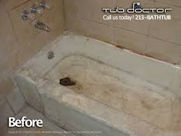 porcelain tub before