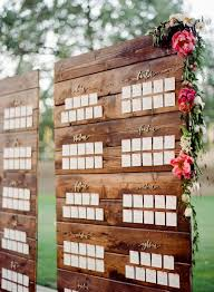 Picture Of Calligraphy Wedding Seating Chart On A Reclaimed