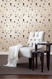 The Zinc wallpaper collection also has zany letter wallpaper designs. This  one here is a