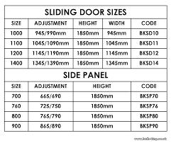 sliding door width sliding glass