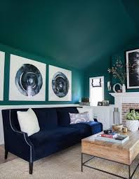 Taking a Hollywood Hills House from Flab to Fab | Teal living room paint,  Spring living room decor, Teal living rooms