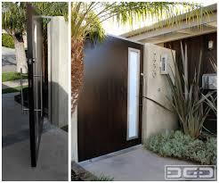 mid century modern garage doors with windows. Mid Century Modern Pivot Gate Design Garage Doors With Windows R