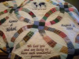 Custom Personalized Wedding Quilts — Made Just For U & Over the years, handmade quilts have been a favorite personalized gift idea  for weddings, wedding showers and anniversaries as well as gifts for  parents. Adamdwight.com