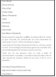 Resignation Letter For Nurses Sample For Resignation Letter Polite