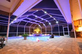 custom pool enclosure hexagon shape. Nebula Lighting. Pool Enclosure Custom Hexagon Shape Z