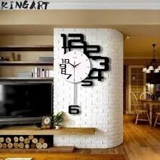 large wall clock 3d hanging wall watch