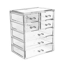 china large capacity makeup case with drawers acrylic makeup organizer jewelry cosmetic storage display