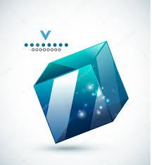 Cube Design Template Modern 3d Vector Glass Cube Design Template Stock Vector