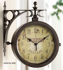creative of design double sided clock ideas best ideas about outdoor clock on rustic clocks