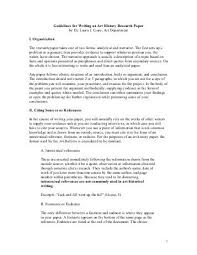 a list of important art research paper topics good history research
