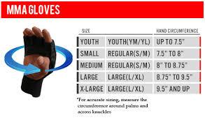 Mma Gloves Size Chart Amber Mma Gloves Size Chart Jpg