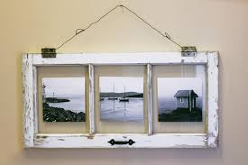 DIY Vintage Window Pane Photo Frame