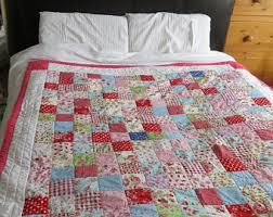 Quilt - Handmade | Etsy UK & Beautiful handmade patchwork quilt - 5' x 5' (153cm x 153cm) approximate Adamdwight.com