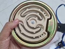 Bếp điện lò xo tròn lớn 21cm hơ lá trầu,nấu ăn