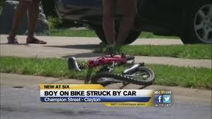 ambulance com 13 year old boy on bike hit by car in johnston county