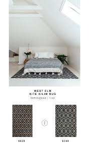 west elm kite kilim rug for 629 vs safavieh dhurries rug for 344 copy cat chic