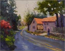 along st matthews rd 11x14 paintings of chester springs pennsylvania