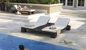 image of double wicker pool chaise lounge pool chaise lounge43