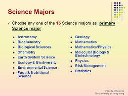 6 science majors