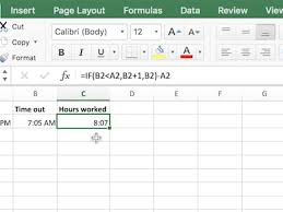timesheet calculator spreadsheet use excel to calculate the hours worked for any shift