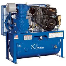 gas powered air compressor. free shipping \u2014 quincy qt-7.5 splash lubricated reciprocating air compressor 14 hp, gas powered