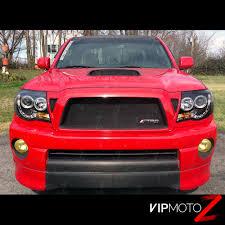 2005-2011 Toyota Tacoma Black HALO LED Projector Headlights Pre ...