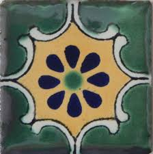 25 tiles ceramic mexican talavera handmade tile 2x2 clay mexico pottery 2 01