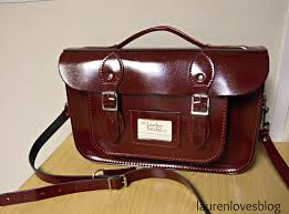 i got the 12 5 inch satchel in patent oxblood leather with briefcase handle and it s the most beautiful bag ever i ve had so many compliments already and