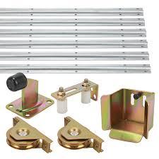 voilamart sliding gate hardware accessories kit track wheels stopper roller guide opener