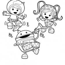 Small Picture Milli and Geo say Hi in Team Umizoomi Coloring Page Milli and Geo