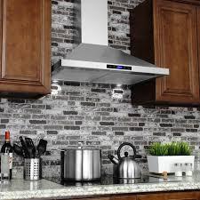 stunning 30 range hood akdy silvertone stainless steel inch wall mount