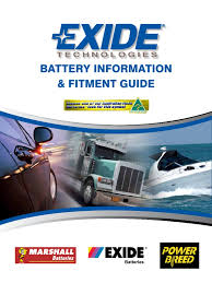 exide battery specifications