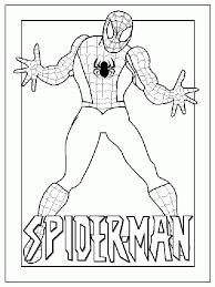 Spiderman Kleurplaat Superhelden Kleurplaat Animaatjesnl