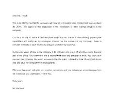 Sample Termination Letter For Poor Performance Employee Work