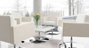 Office furniture interior design Counter Off White Pedestal Chairs In Lounge Setting Modern Orange Office Modern Office Furniture Archives Collaborative Office Interiors