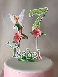 Tinkerbell Cake Topper Tinkerbell Party Fairy Cake Topper Etsy