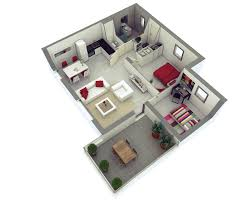 3d small 2 bedroom house plans