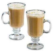 Irish coffee mugs at our cafe for our special irish coffee drink that has ireland. Libbey 8oz Milan Irish Coffee Glass Mug 4pk Set Target