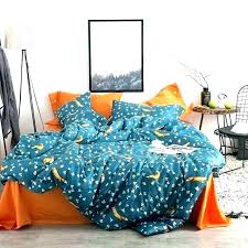 orange and blue bedding sets fox leaves gray queen king size soft cotton comforters burnt quilt