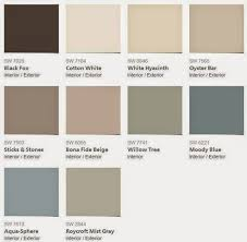 Roycroft Mist Gray is a beautiful neutral gray/taupe in this palette. I'm  guessing this is one of those colors that is really versatile with the  changing ...
