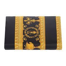 versace home barocco robe duvet cover super king gold black amara