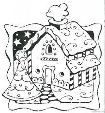 gingerbread house coloring pages for kids printable Coloring4free ...