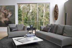 contemporary living room gray sofa set. Modern Gray Couch Living Room Be Equipped With Sofa And Loveseat Furnished White Table On Rug Also Completed Beautiful Wall Art Paper Contemporary Set L