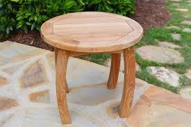Amazon com tortuga outdoor jakarta teak wood side table garden outdoor